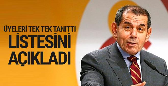 Dursun Özbek seçim listesini açıkladı