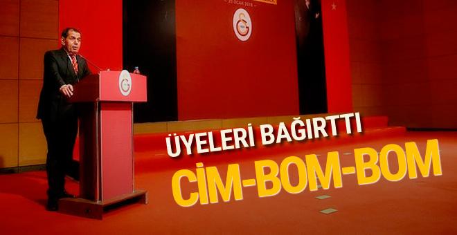 Dursun Özbek üyeleri Cimbom diye bağırttı