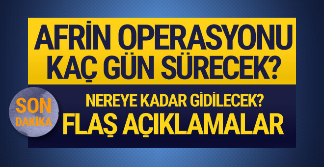 Başbakan Yıldırım'dan flaş Afrin açıklaması... İlginç detaylar...