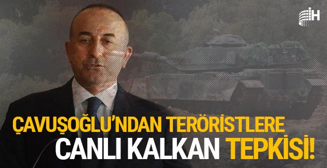 Bakan Çavuşoğlu'ndan teröristlere 'canlı kalkan' tepkisi