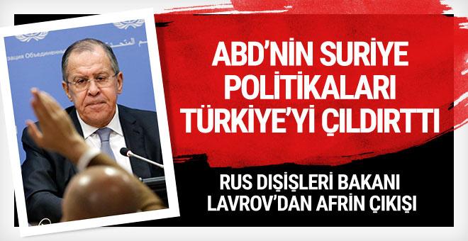 Sergey Lavrov'dan Türkiye açıklaması
