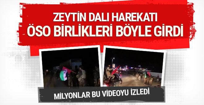 ÖSO, Türk bayraklarıyla Afrin yolunda