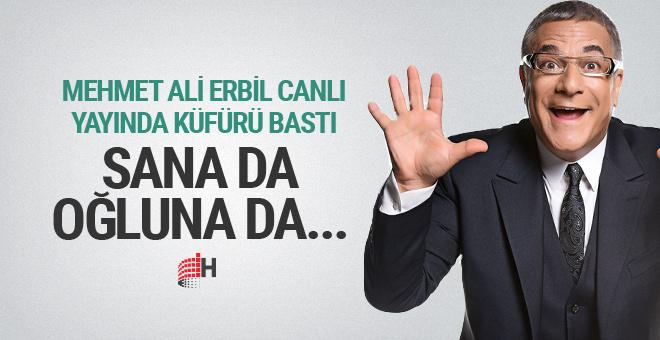 Mehmet Ali Erbil yayında küfürü bastı seyirciler dondu kaldı