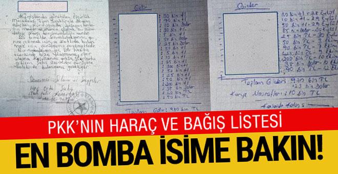 PKK'nın haraç listesi ele geçirildi! Kimler kimler var?..