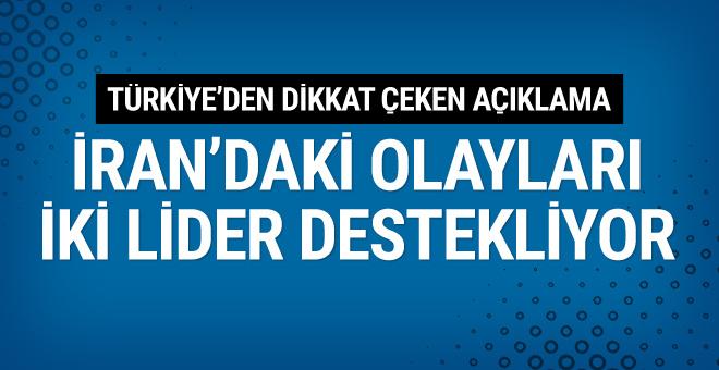 Mevlüt Çavuşoğlu: İran'daki olayları iki lider destekliyor