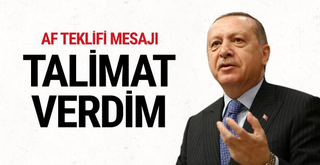 Cumhurbaşkanı Erdoğan'dan flaş af talimatı! Kimleri kapsayacak?
