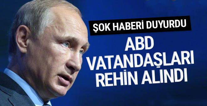 Vladimir Putin: Teröristler Suriye'de ABD vatandaşlarını rehin aldı!