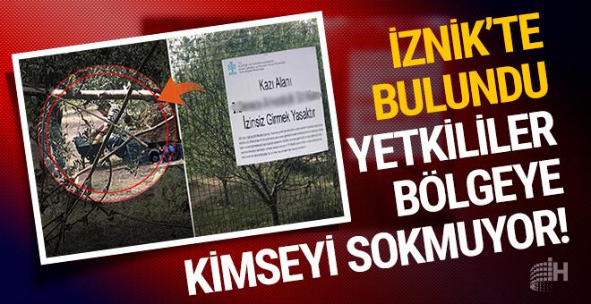 İznik'te lahit bulundu yetkililer bölgeye kimseyi sokmuyor!