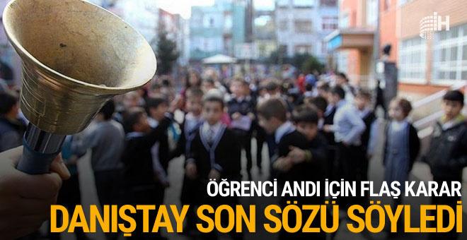 Danıştay'dan flaş 'Öğrenci Andı' kararı!