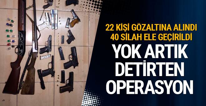 Antalya'da mafya operasyonu: 22 gözaltı