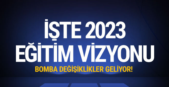 İşte 2023 Eğitim Vizyonu! Bakan Ziya Selçuk açıkladı