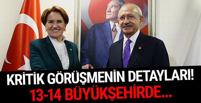 Kılıçdaroğlu-Akşener görüşmesinin ayrıntıları! 13-14 büyükşehirde...