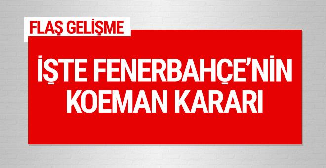 Fenerbahçe'nin Koeman kararı belli oldu