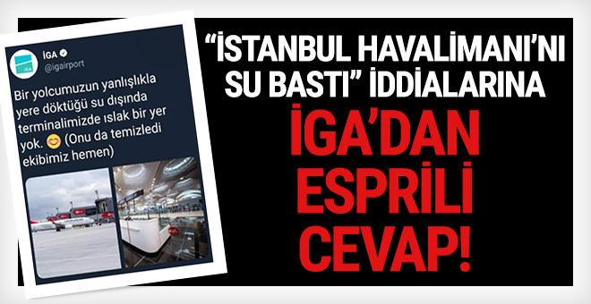 'İstanbul Havalimanı'nı su bastı' diyenlere İGA'dan esprili cevap!