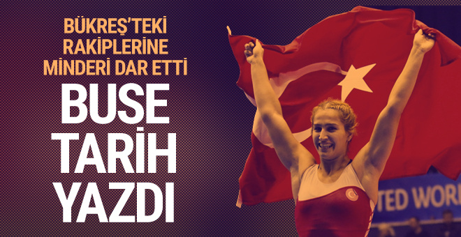 Buse Tosun Romanya'da tarih yazdı!