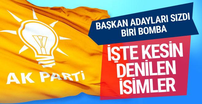 AK Parti belediye başkan adayları sızdı işte kesin denilen bomba isimler