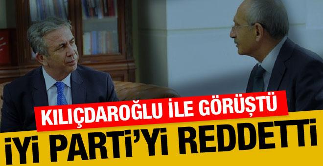 Mansur Yavaş Kılıçdaroğlu ile görüştü İYİ Parti'yi reddetti