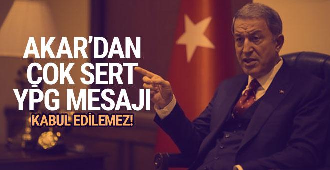 Hulusi Akar'dan Fırat'ın doğusu mesajı!