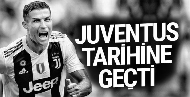 Ronaldo attığı golle Juventus tarihine geçti
