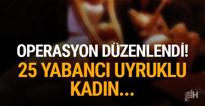 Trabzon'da fuhuş operasyonu! 25 yabancı uyruklu kadın...