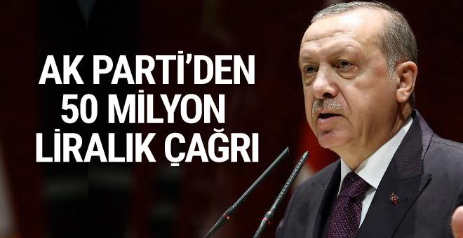 AK Parti'den 50 milyon TL'lik tasarruf çağrısı