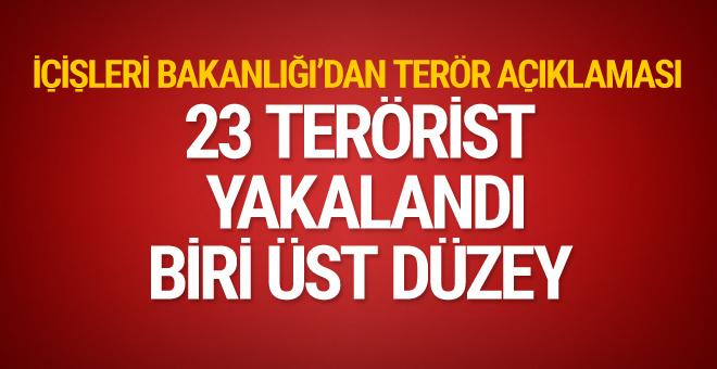 İçişleri bakanlığı açıkladı son bir haftada 23 terörist etkisiz hale getirildi