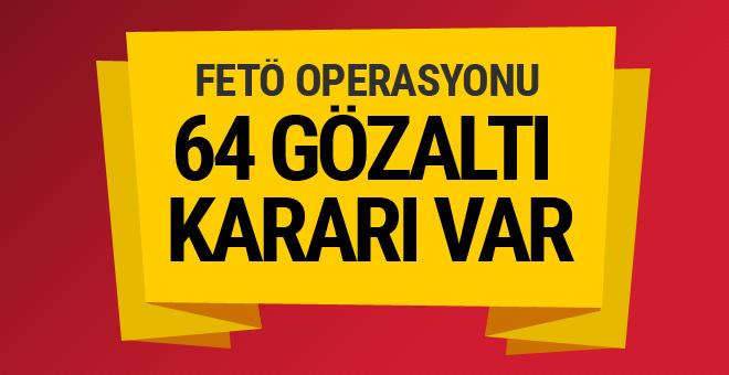 Kara Kuvvetleri Komutanlığı'nda operasyon! 64 gözaltı kararı