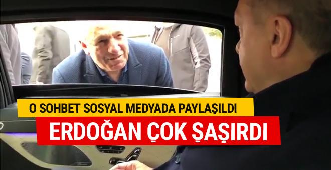 Erdoğan'ın gazi yakınıyla sohbeti böyle görüntülendi
