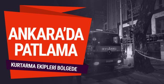 Ankara Kızılay'da doğalgaz hattında patlama