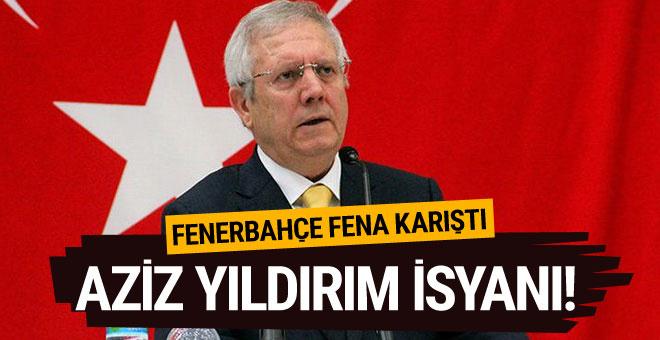 Fenerbahçe taraftarı Aziz Yıldırım lehine tezahüratlarda bulundu