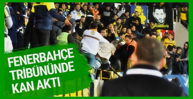 Akhisar'da Fenerbahçe tribününde kan aktı!