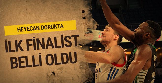 Türkiye Kupası'nda ilk finalist Anadolu Efes oldu