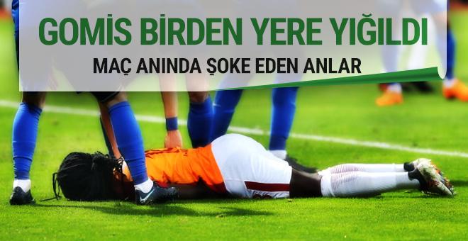 Galatasaray'da Gomis baygınlık geçirdi!