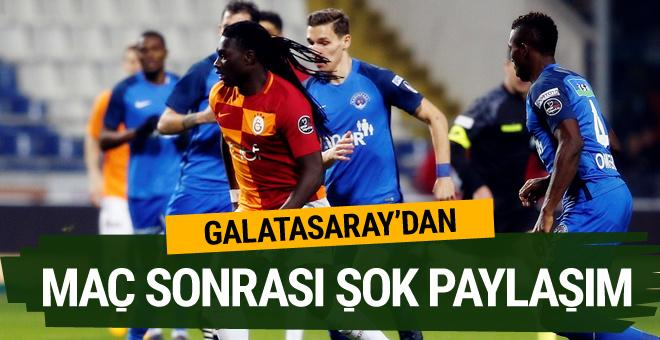 Galatasaray'dan maç sonrası şok paylaşım