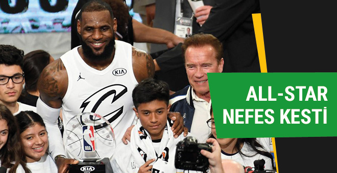 NBA All Star'da kazanan LeBron James'in takımı