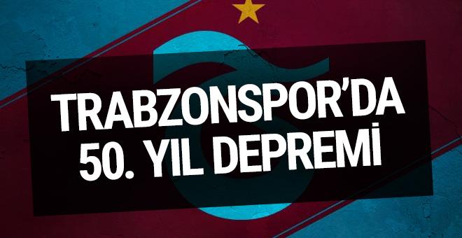 Trabzonspor'da 50'nci yıl depremi
