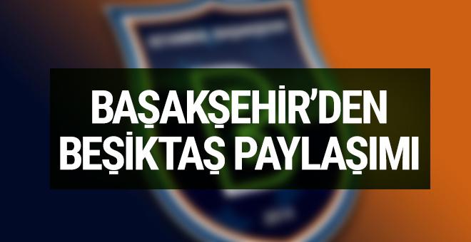 Başakşehir'den Beşiktaş'a destek!