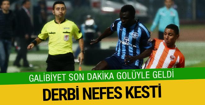 Adanaspor derbiyi son dakikada kazandı