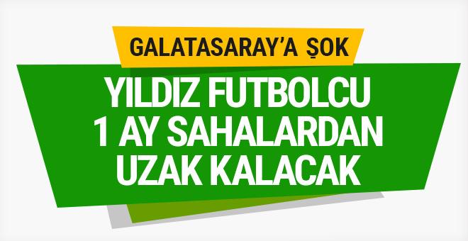 Galatasaray'da Eren Derdiyok 1 ay sahalardan uzak kalacak