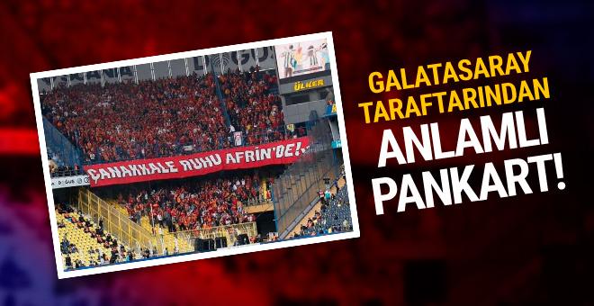 Galatasaray taraftarından Afrin'e destek!
