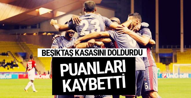 Beşiktaş kasasını doldurdu puanları kaybetti