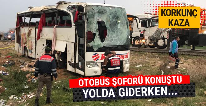 Aksaray'da yolcu otobüsü devrildi ölü ve yaralılar var