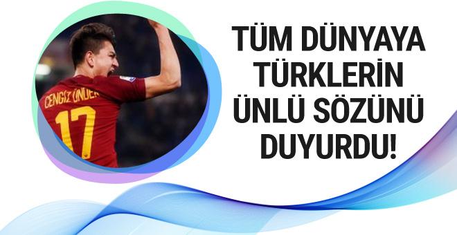 Cengiz Ünder'den dev maç sonrası bomba paylaşım