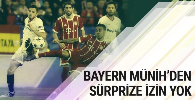 Bayern Münih Şampiyonlar Ligi'nde sürprize izin vermedi