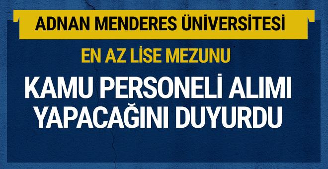 Adnan Menderes Üniversitesi kamu personeli alacak