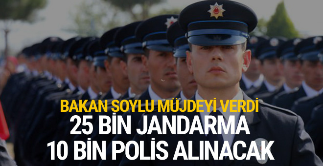 Bakan Soylu müjdeyi verdi! Bu yıl içinde 10 bin polis alınacak