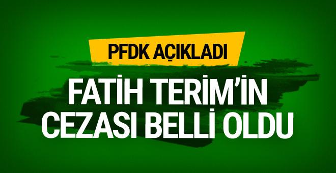 Fatih Terim'in cezası belli oldu