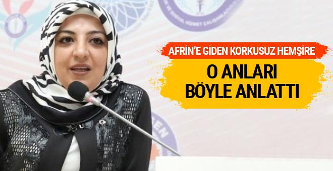 Afrin'in korkusuz hemşiresi o  anları anlattı