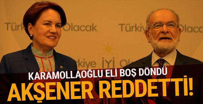 Karamollaoğlu ne önerdi Akşener ne cevap verdi?