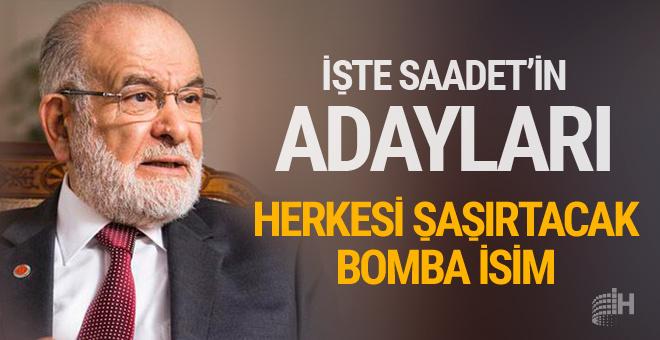 İşte Saadet Partisi'nin cumhurbaşkanı adayları! Bomba isim